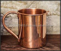 MOSCOW MULE MUGS 99.9% SOLID COPPER MULE MUGS FDA APPROVED SOLID COPPER MUGS MANUFACTURER INDIA , Hammered Copper Barrel Mugs