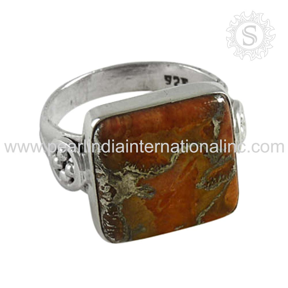 Brown Copper Turquoise Wholesale Silver 925 Jewelry Ring Sterling Silver Jewelry Supplier