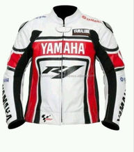 YAMAHA R1 MOTORBIKE LEATHER JACKET - CE APPROVED FULL PROTECTION