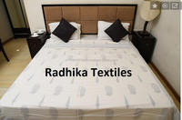 Wooden Hand Block Printed New Kantha Quilt Vintage Queen Size Bedspread Throw 100% Cotton Bed Cover / Table Cover