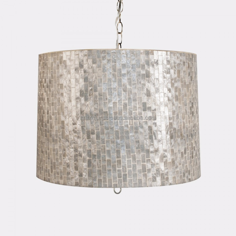 designer pendant lighting home decor - your iridescent material natural mother of pearl vietnam - why not?