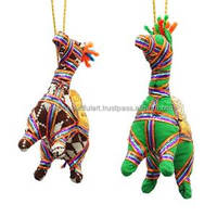 Indian Ethnic Handmade Camel Wall Hanging Decor Rajasthan Craft Toran 1 Pair WH163A