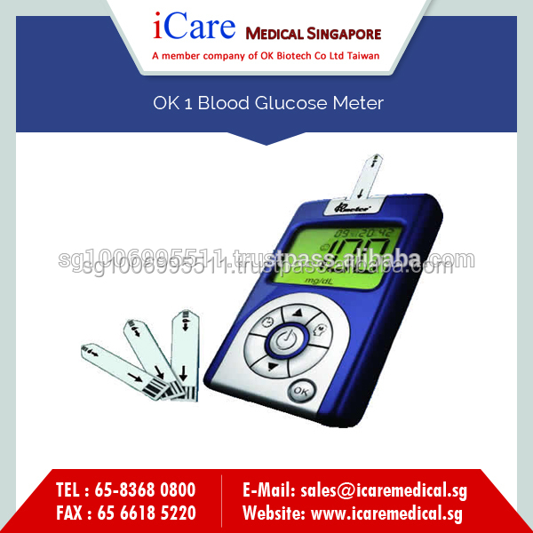 Professionally Designed Blood Glucose Meter with Quick Result Response