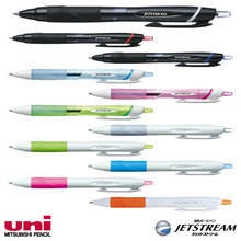 Smooth writing ink pen with eraser jetstream with superlow friction ink made in Japan