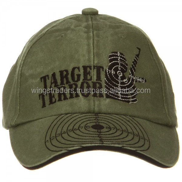 Factory Price War and Operation Pigment Dyed Washed Cap - Army Baseball Cap