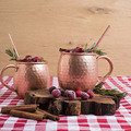 copper moscow mule mugs Set of 4 Pure Copper Beer Mug with Black Gift Box , Hammered Copper Mugs with Black Gift Box,