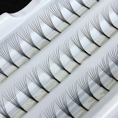 Mink eyelash extension C B J D curl Single custer Mink Eyelash Extension