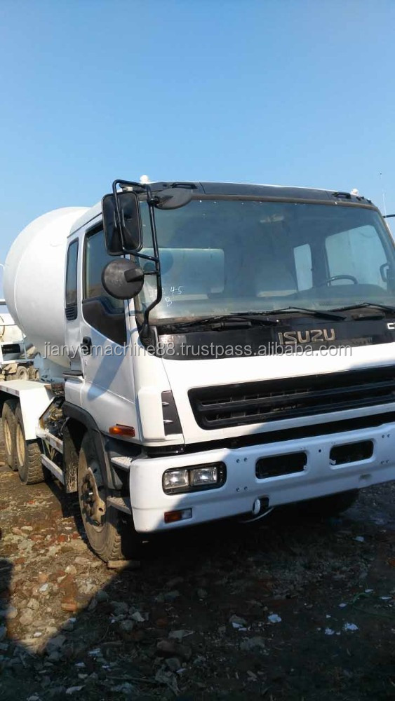 Isuzu 8cbm second hand truck mixer for sale used condition concrete mixer