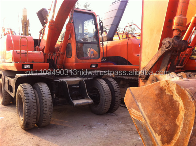 Used Doosan Daewoo Wheel Excavator 150W, Doosan Wheel Excavator DH150W Cheap Price