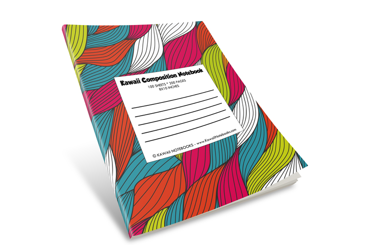 Composition Notebooks - Lot of 101 Pieces - 101 Different Vibrant and Unique Color Cover Designs - Unlimited Supply - Customize