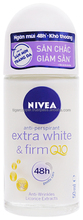 NIVEA EXTRA WHITE & FIRM Q10 DEODORANT ROLL ON 50ML