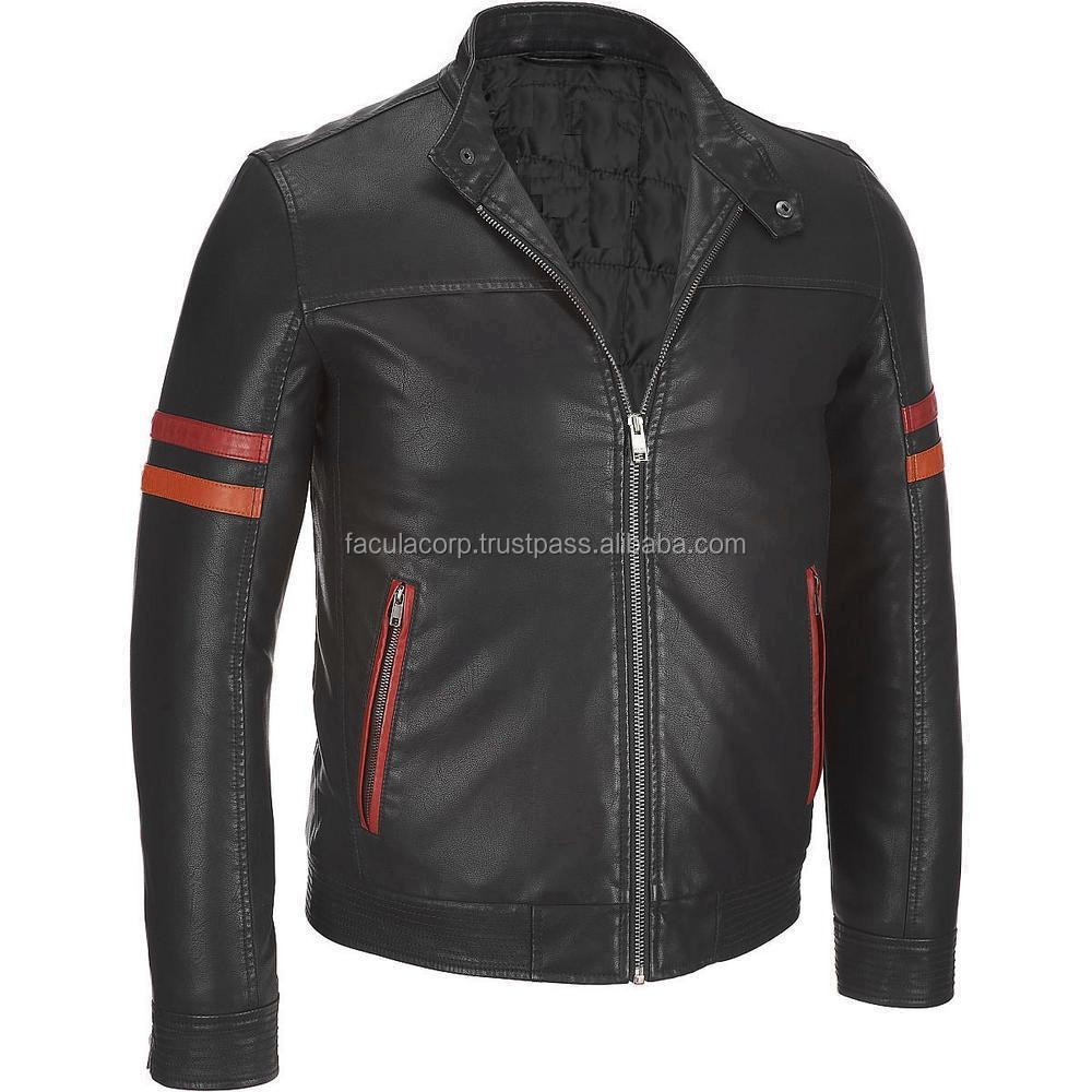 Men Real Leather Jacket biker Style all sizes FC-16882