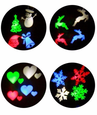 Christmas Light Projector, Ucharge Rotating Night Light Projector Snowflake Spotlight, 12 Slides Dynamic holiday light