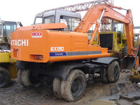 used wheel excavator hitachi ex100wd, used hitachi ex100 ex160 wheel excavator