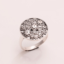 925 Solid Sterling Fine Silver Plain Silver Flowers Ring