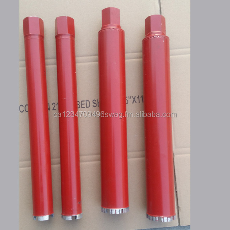 "1"" 2"" 1-1/4"" 3"" 3-1/2"" 4-1/2"" 5"" 6"" Laser welded wet drilling diamond reinforced concrete core drill bit/diamond core bit"