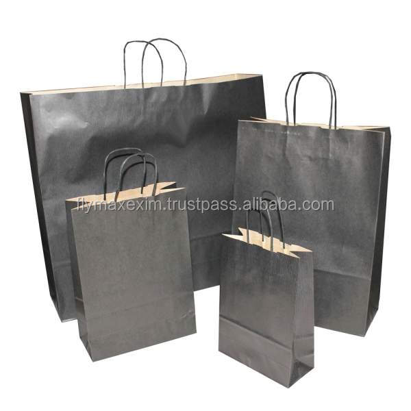 Wholesale TOP Quality Reusable Custom Logo printing Kraft Paper Bag