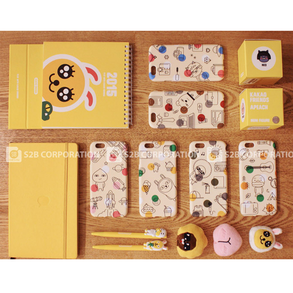 00740 For Galaxy Note5/Note4/Note3_Kakao Friends Pattern Jelly_Smart Cellular Mobile Phone Case Cover