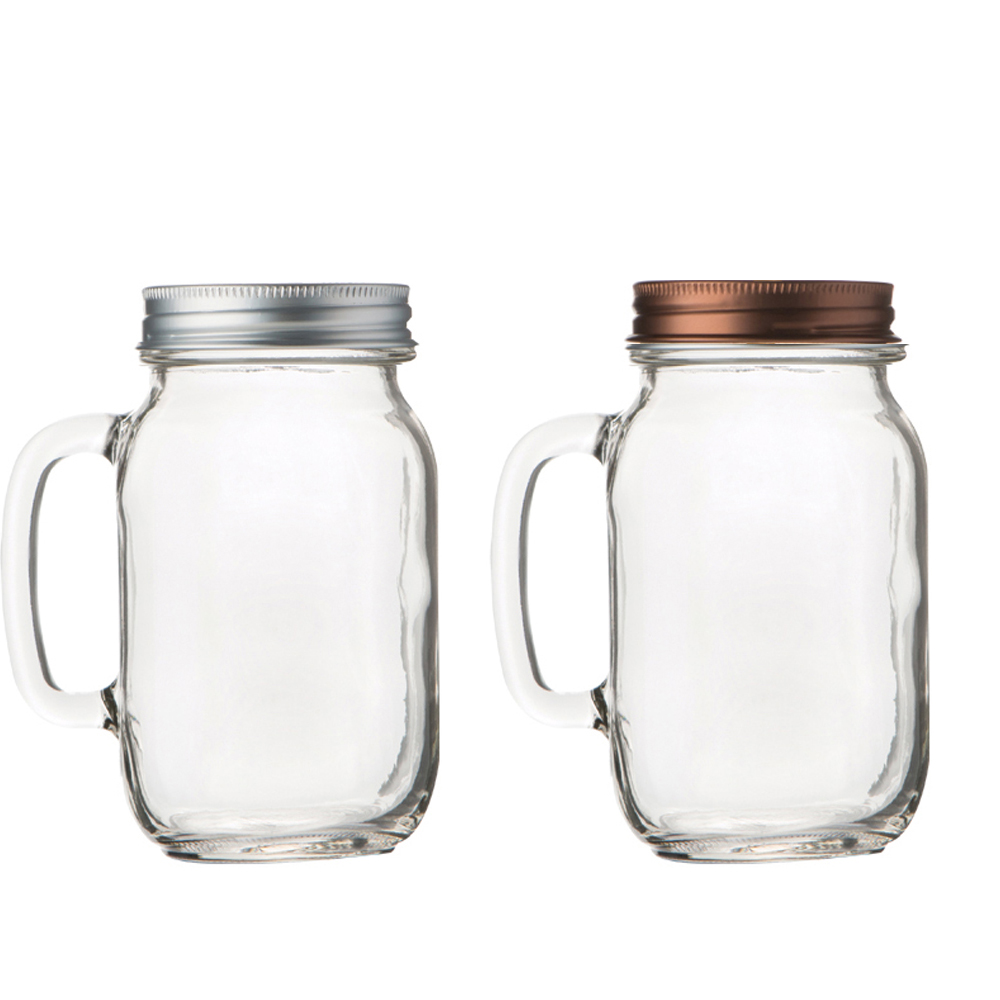 Glass Clear Jar with Aluminum Sealing Lid 22oz(650ml) Cadny Chocolate Beas Rice Pasta Sauce Container Made In Korea