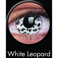 WHITE LEOPARD COLOR CRAZY CONTACT LENS ONE YEAR DISPOSABLE