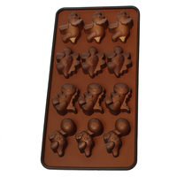 Silicone Fondant Chocolate Mould Cake Mold Decorating Tool Rectangle Coffee Dinosaur Pattern 21.0cmx10.5cm, 1Piece