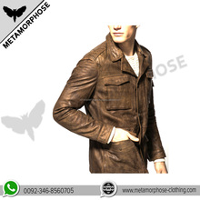 2017 New Porducts Top Selling Fashion Custom Men LeatherJacket