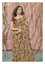 Refreshing Brown Chiffon Georgette Designer Saree/plain saree chiffon saree/wholesale saree
