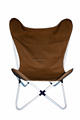 100% Foldable Queen Size Brown Canvas Butterfly Chair