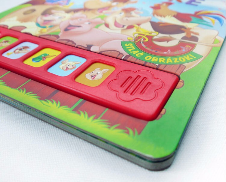 customized 11 buttons sound module Children board book,Music education child book printing