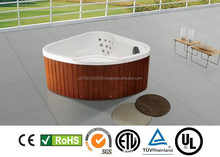 Cheap 2 Person Corner Freestanding HOT TUBE SPA Whirpool with all Certification CE, ROHS, TUV, ENERGY SAVER