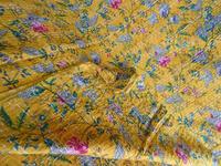 Indian Antique Reversible Kantha Quilt Gudari Handmade Bedspread Bedding Textile Ralli Throw Beige Floral Paradise Quilt