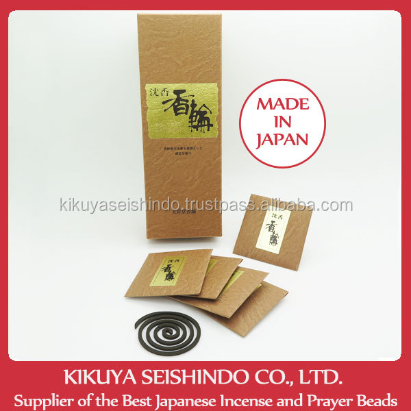 Tennendo Incense Coils, Korin, Agarwood Coils, 30 Agarwood coils, Incense coils, Japanese incense, incense packaging box, Japan