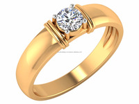Great Stories Make Great Jewelry Diamond Ring 14kt IGI Certified Diamond Solitaire 0.30ct For Daily Wear
