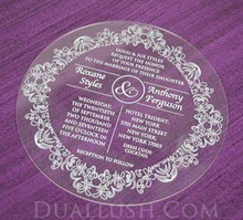 Acrylic Invitations Wholesale Laser Cut Clear Acrylic Wedding Invitation Card Round Acrylic Wedding invitation
