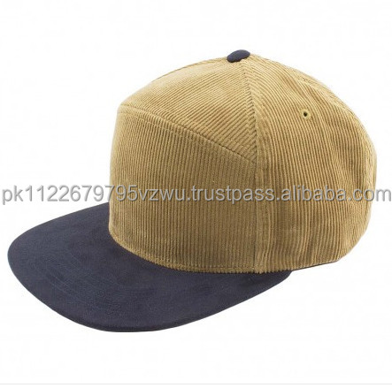 Splendid Look Snapback Hat in Khaki and Navy Contrast Fabric,60% Cotton/40% Polyester