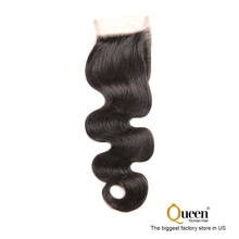 "4x4 Free Part 6"" Virgin Remy Human Hair Body Wave 1 bundle Lace Closure"