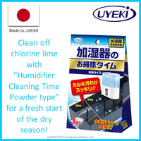 Japanese humidifier cleaner for calcium hypochlorite stain , sample set available