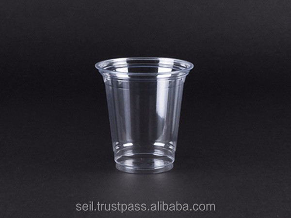 SC-11 PET disposable clear cup with custom logo printing, 8,9,10,12,14,16,20,24oz with lid