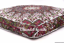 "Indian Star Mandala cushion cover Ottoman Pouf Dog Bed Hippie Square Floor Pillow Cover Daybed 35"" bohemian throw cases Large"