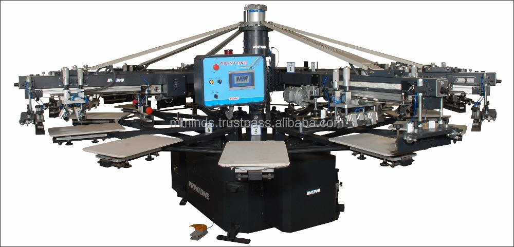 Korea tech M&M logo printing screen print machinefor shirts