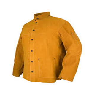 Top Quality Golden Genuine Leather Welding Jackets