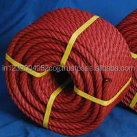 PP PE 3 Strands 3mm - 40mm Colored Twisted Plastic Rope/3/8 inch diamond braided pp rope