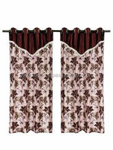 Wholesale new style WINDOW CURTAIN BROWN