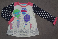 Kids Printed Top With Frills at Sleeve Polka Dot