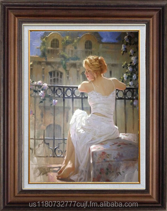 wholesale handmade beautiful woman oil painting on canvas