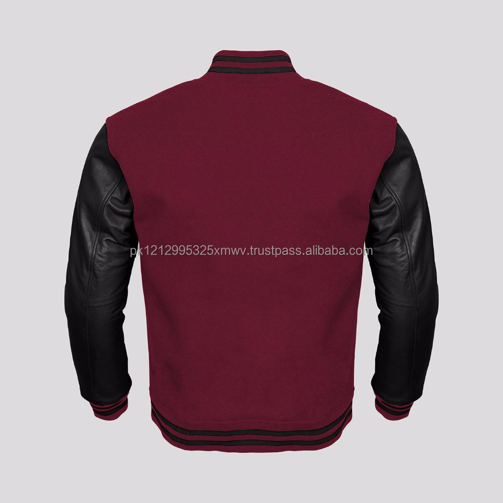 New cheap custom men winter varsity jackets printed with your brand name