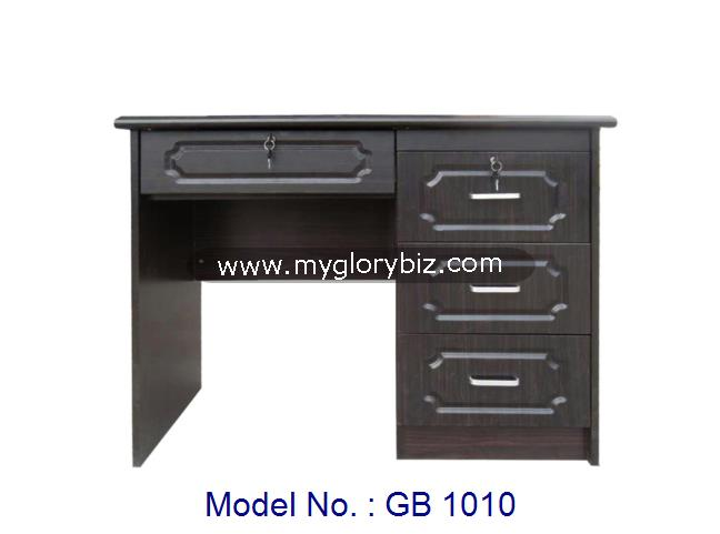 Latest Model Writing Study Desk Computer Table For Home Or Office With Drawers And Lockers In Black Color Modern Designs
