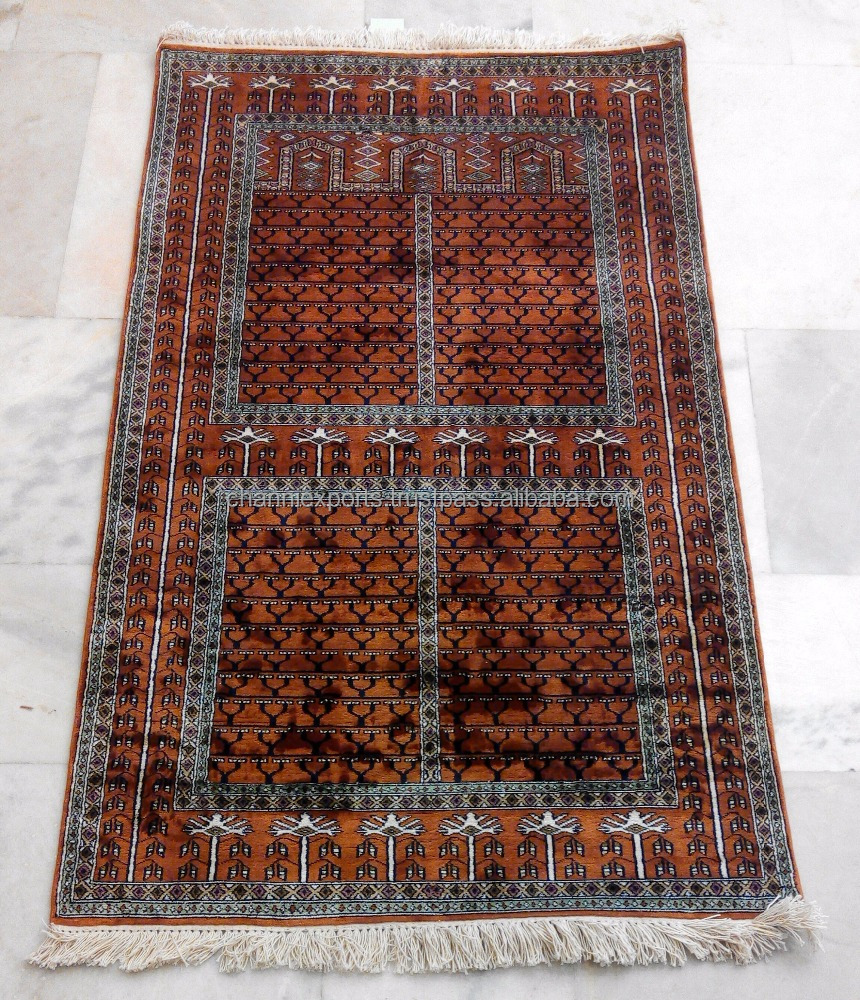 Wholesale beautiful hand knotted rugs handmade pure silk carpet from Jaipur India palace of wind design