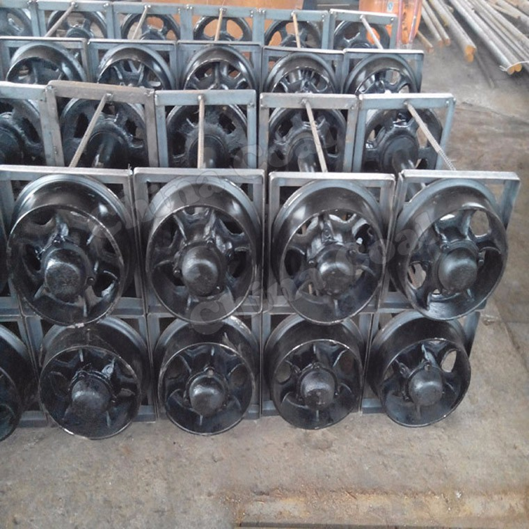 China Coal Factory Single/Double Flanged Industrial Cart Wheels for Sale