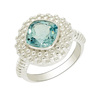 New Silver Jewelry Ring Blue Topaz